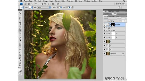 Brightening the skin and hair: Photoshop CS4 Retouching: Fashion Photography Projects