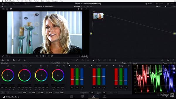Blur: Sharpening and coring softness: DaVinci Resolve 12 Advanced Color Grading