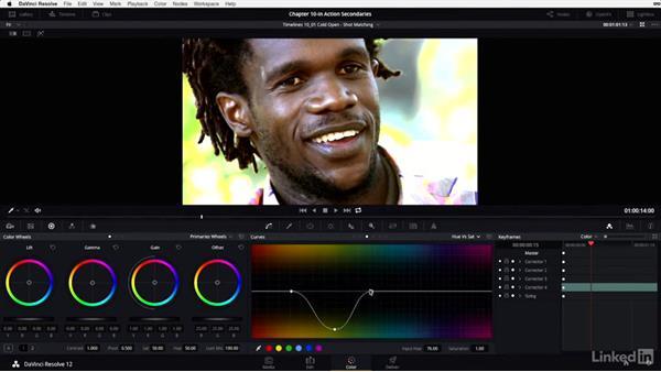 Shot matching: Ven: DaVinci Resolve 12 Advanced Color Grading