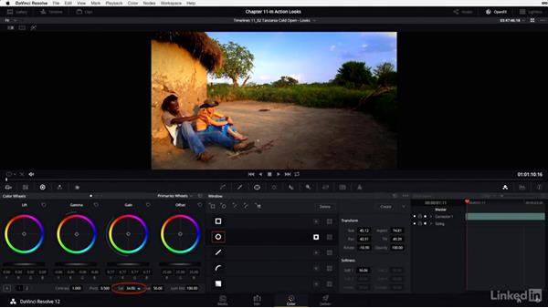 Cold open: Grouping and setting looks: DaVinci Resolve 12 Advanced Color Grading