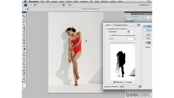 Cleaning up the background: Photoshop CS4 Retouching: Fashion Photography Projects