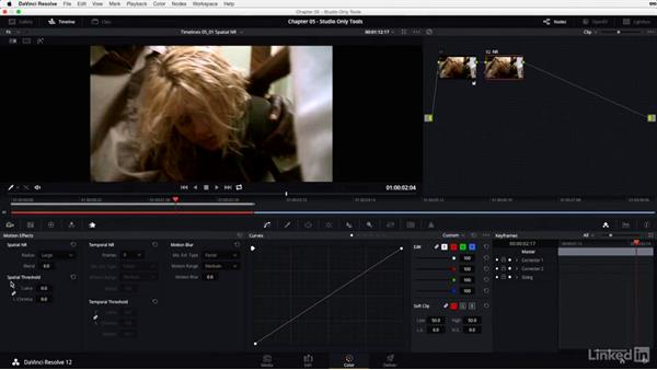 Spatial noise reduction: DaVinci Resolve 12 Advanced Color Grading