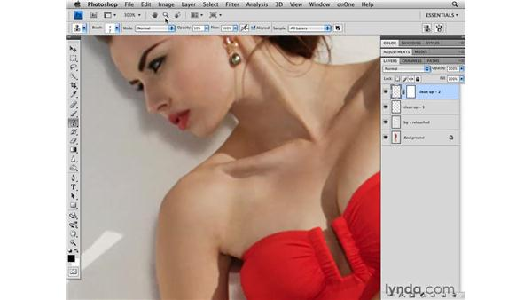 Cleaning up the mid-size details: Photoshop CS4 Retouching: Fashion Photography Projects