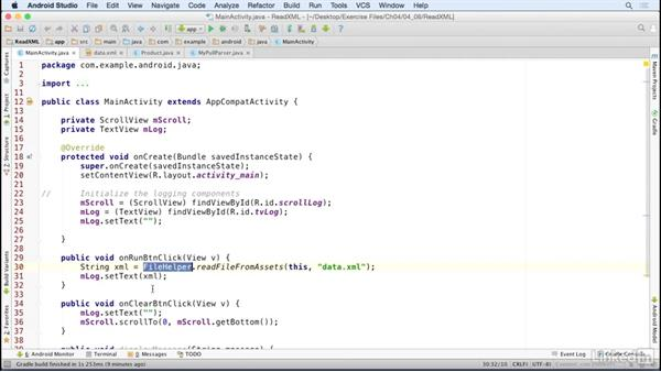 Parse XML formatted data: Java Design Patterns and APIs for Android