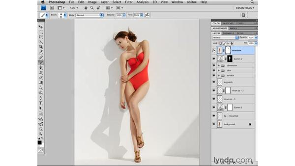 Modifying the structure of the image: Photoshop CS4 Retouching: Fashion Photography Projects
