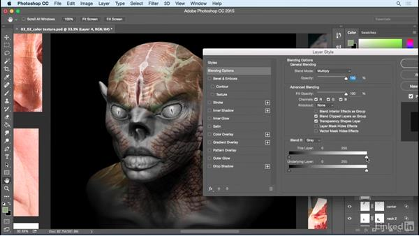 Secondary and tertiary coloring: Photoshop: Create a Goblin Using Textures and Compositing