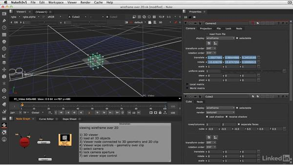001 View wireframe over a clip: NUKE NUGGETS Weekly