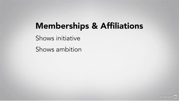 display membership in an organization
