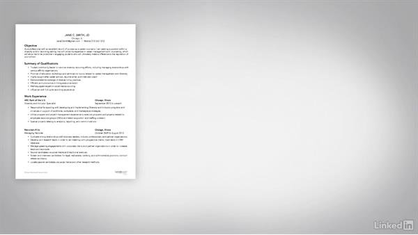 Showcase volunteer work and experience: Writing a Resume