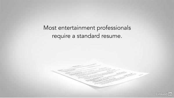 Entertainment resumes: Writing a Resume