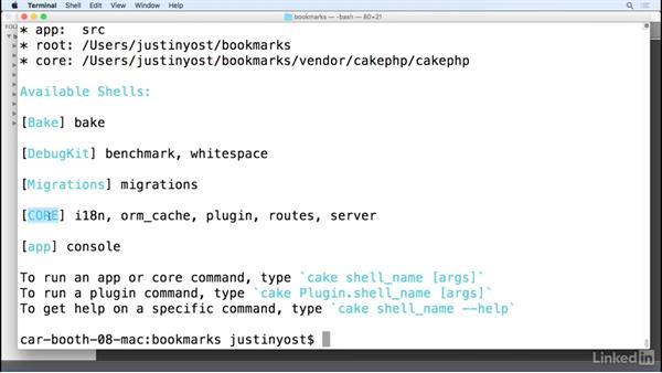 CakePHP shell: Learn CakePHP 3: The Basics