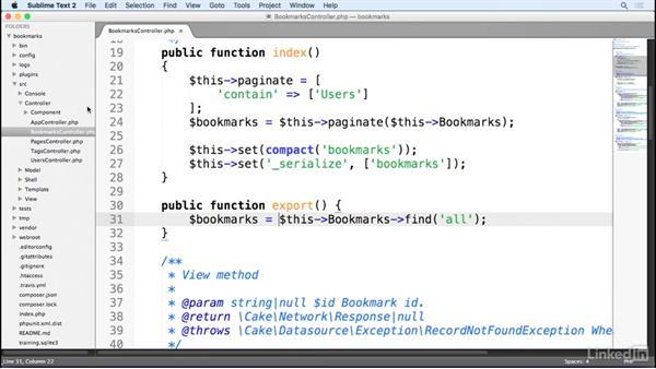 Controller methods: Learn CakePHP 3: The Basics
