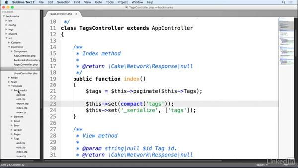 Controller pagination: Learn CakePHP 3: The Basics