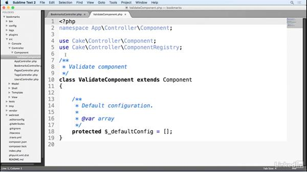 Create and use a custom component: Learn CakePHP 3: The Basics