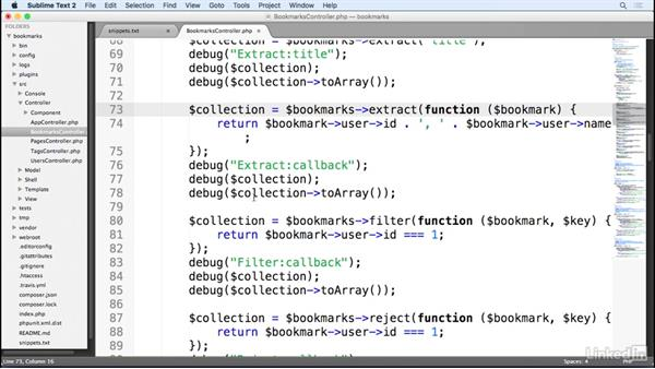 Collections: Learn CakePHP 3: The Basics