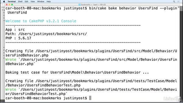 Create and use a custom plugin: Learn CakePHP 3: The Basics