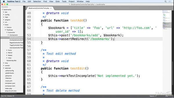 Testing a CakePHP controller: Learn CakePHP 3: The Basics