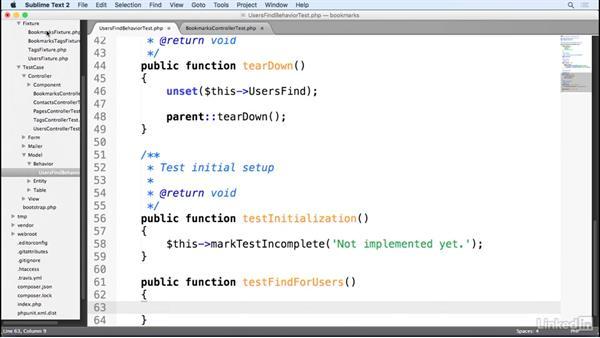 Testing a CakePHP behavior: Learn CakePHP 3: The Basics