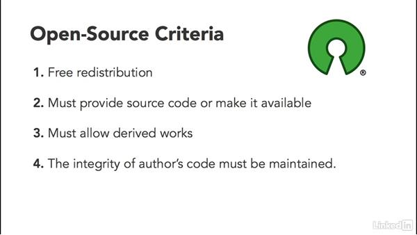 Introduction to open source and open-source principles: Foundations of Programming: Open-Source Licensing