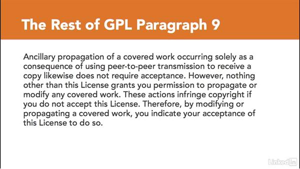 The three basic licenses: GPL: Foundations of Programming: Open-Source Licensing