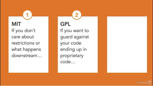 Choosing the right open-source license: Foundations of Programming: Open-Source Licensing