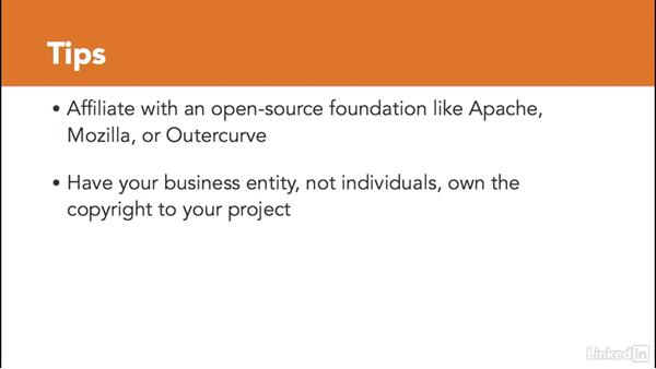 Establishing a business entity for your project: Foundations of Programming: Open-Source Licensing