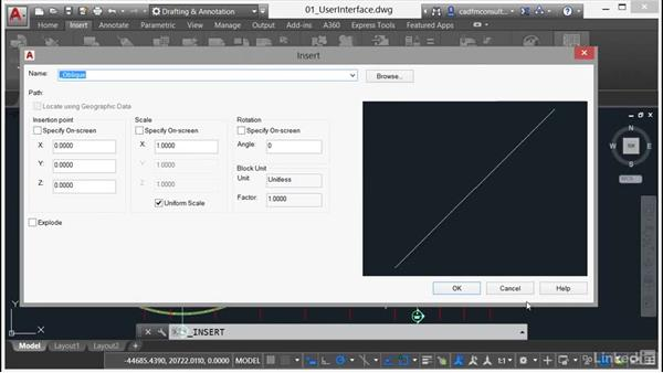 Insert Display: AutoCAD 2017 New Features