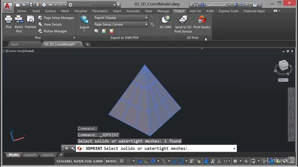 3D printing: AutoCAD 2017 New Features