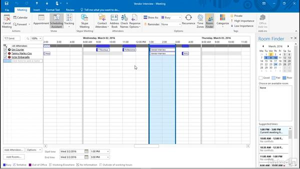 Invite others to a meeting: Time Management with Outlook 2016 Calendar and Tasks