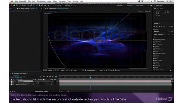 Using the comp camera: After Effects Apprentice 18: 3D Text CINEMA 4D Lite