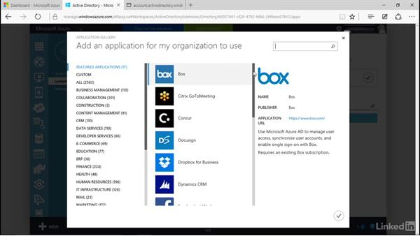 Implement single sign-on for applications: Learn Microsoft Azure: Active Directory