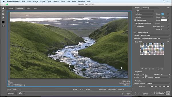 Exporting a cinemagraph: Photoshop Cinemagraph Tutorial: Start to Finish