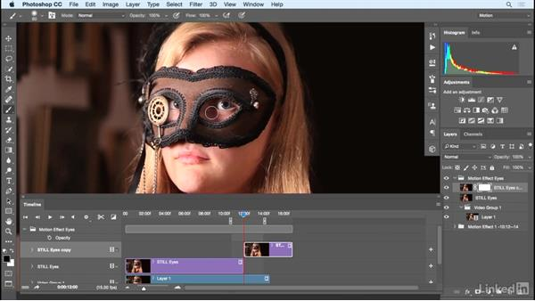 Adding a second effect for the cinemagraph: Photoshop Cinemagraph Tutorial: Start to Finish