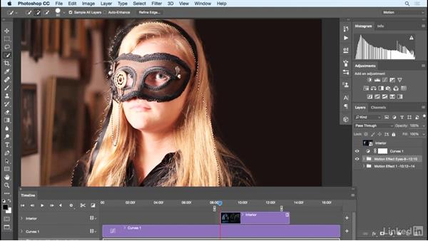 Comping in a new background to the cinemagraph: Photoshop Cinemagraph Tutorial: Start to Finish
