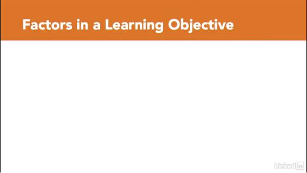 Definition and structure of a learning objective