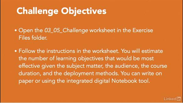 Challenge: Analyze courses for learning objectives: Write Effective Learning Objectives