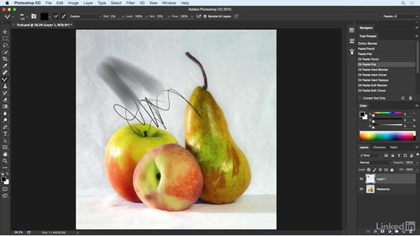 Tool presets vs. brush presets: Pastel Drawing with Photoshop