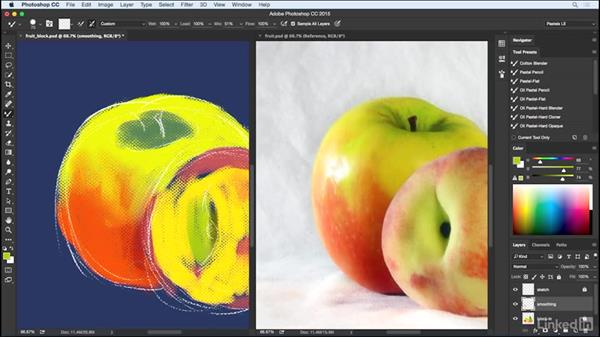 Creating tonality with blending: Pastel Drawing with Photoshop