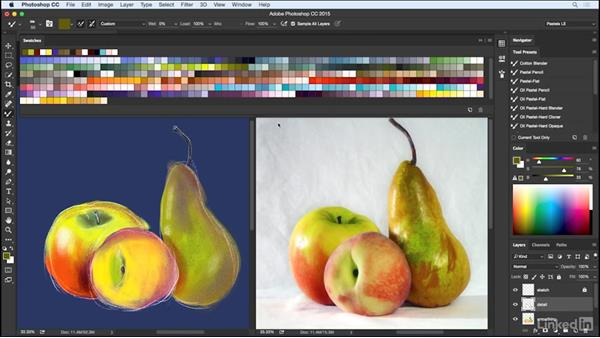 Finalizing with detail: Pastel Drawing with Photoshop
