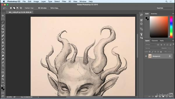 Adjustments and masking: Photoshop: Create a Satyr Using Layer Styles