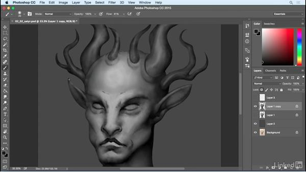 Refinement and additional lighting: Photoshop: Create a Satyr Using Layer Styles