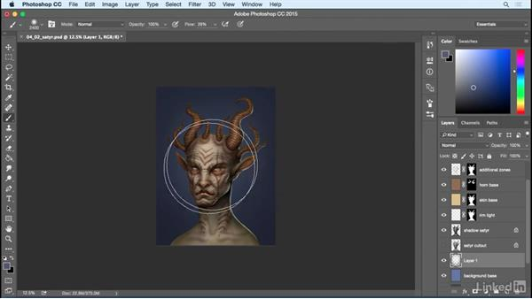 Foreground and background: Photoshop: Create a Satyr Using Layer Styles