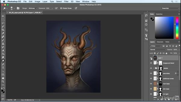 Main focal points: Photoshop: Create a Satyr Using Layer Styles