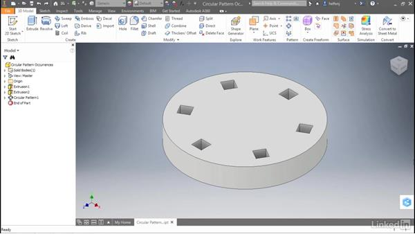 Circular pattern identical occurrences: Autodesk Inventor 2017 New Features