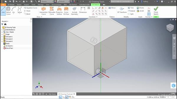 3D sketch draw tools: Autodesk Inventor 2017 New Features