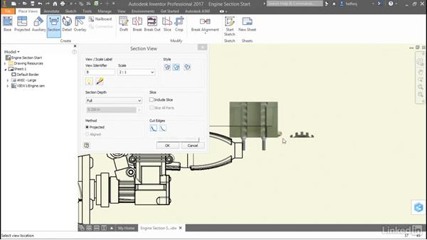Jagged cut edges in section views: Autodesk Inventor 2017 New Features