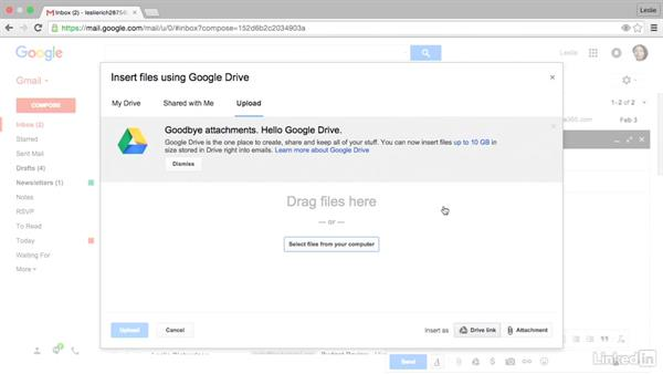 Attach large files from Google Drive: Gmail Advanced Tips and Tricks