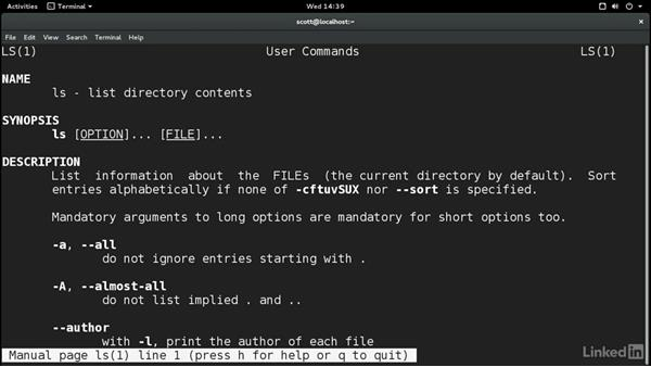 Find help for commands: Learn the Linux Command Line: The Basics