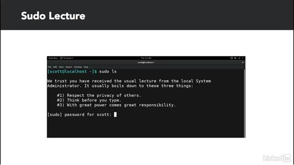Understand user roles and sudo: Learn the Linux Command Line: The Basics