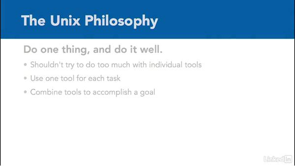 The Unix philosophy: Learn the Linux Command Line: The Basics